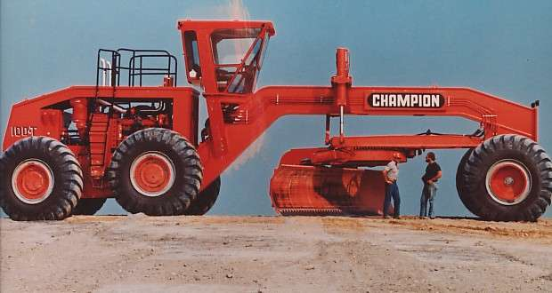 Champion 100T, The World's largest production grader ...